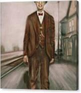 Railroad Man Canvas Print