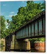 Railroad Over Waccamaw Canvas Print