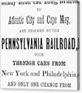 Railroad Resorts, 1884 Canvas Print