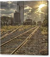 Railroad Sunrise Canvas Print