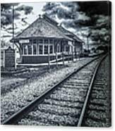 Railroad Ties Marlette Michigan Canvas Print