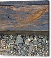 Railroad Track Closeup Background Canvas Print