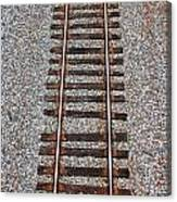 Railroad Track With Gravel Bed Canvas Print