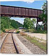 Railroad Train Tracks And Trestle Canvas Print