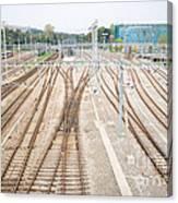 Railroad Train Yard Canvas Print