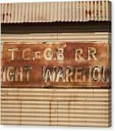 Railroad Warehouse Canvas Print