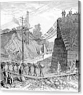 Railroad Washout, 1885 Canvas Print