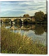 Railway Viaduct At Waterside - Stapenhill Canvas Print