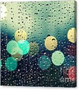 Rain And The City Canvas Print