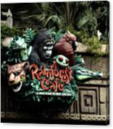 Rain Forest Cafe Signage Downtown Disneyland 03 Canvas Print
