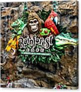 Rain Forest Cafe Signage Walt Disney World Canvas Print
