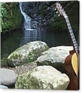 Rain Forest Guitar Canvas Print