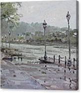 Rain In Lewiston Waterfront Canvas Print
