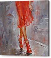 Rain In Manhattan Canvas Print