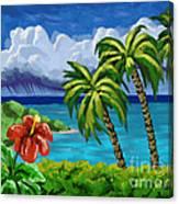 Rain In The Islands Canvas Print