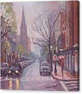 Rain On Newbury St Canvas Print