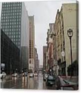 Rain On Water Street 2 Canvas Print