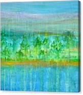 Rain  Original Contemporary Acrylic Painting On Canvas Canvas Print