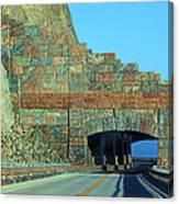 Rain Rocks Rock Shed Canvas Print