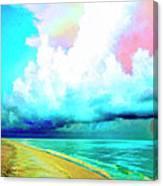 Rain Squall Na Pali Coast Canvas Print