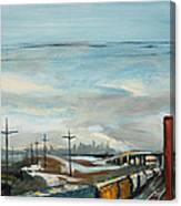 Rain Train Canvas Print