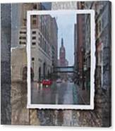 Rain Water Street W City Hall Canvas Print