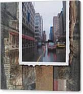 Rain Wisconcin Ave Tall View Canvas Print