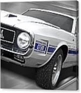 Rain Won't Spoil My Fun - 1969 Shelby Gt500 Mustang Canvas Print