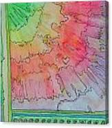 Rainbow 3-squared Canvas Print
