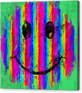 Rainbow Abstract Smiley Face Canvas Print