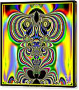 Rainbow Alien Owls Fractal 57 Canvas Print