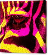 Rainbow Animals - Zebra  Canvas Print