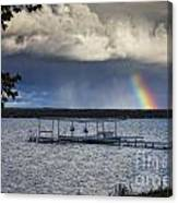 Rainbow At Burt Lake Canvas Print