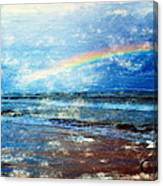 Rainbow At Skagen Canvas Print