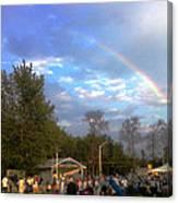 Rainbow At Wind Gap Park Canvas Print