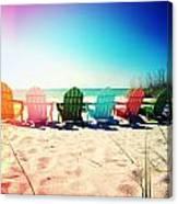 Rainbow Beach Photography Light Leaks1 Canvas Print