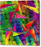 Rainbow Bliss - Pin Wheels - Painterly - Abstract - H Canvas Print