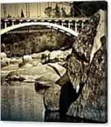 Rainbow Bridge In Folsom Ca Canvas Print
