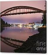 Rainbow Bridge Laconner Canvas Print
