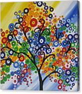 Rainbow Bubble Tree Canvas Print