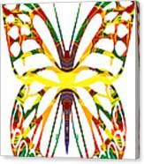 Rainbow Butterfly Abstract Nature Artwork Canvas Print