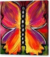 Rainbow Butterfly Canvas Print
