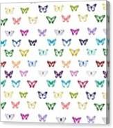 Rainbow Butterfly Pattern Canvas Print