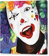 Rainbow Clown Canvas Print