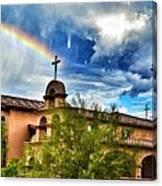 Rainbow Cross Church Canvas Print