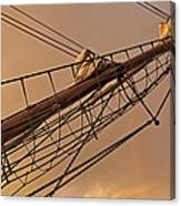 Tall Ship Meets Rainbow Canvas Print