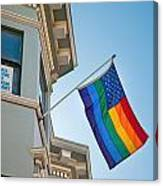 Rainbow Flag Marriage Equality Canvas Print
