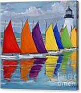 Rainbow Fleet Canvas Print