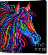 Rainbow Horse Head Canvas Print