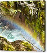 Rainbow In Avalanche Creek Canyon In Glacier National Park-montana Canvas Print